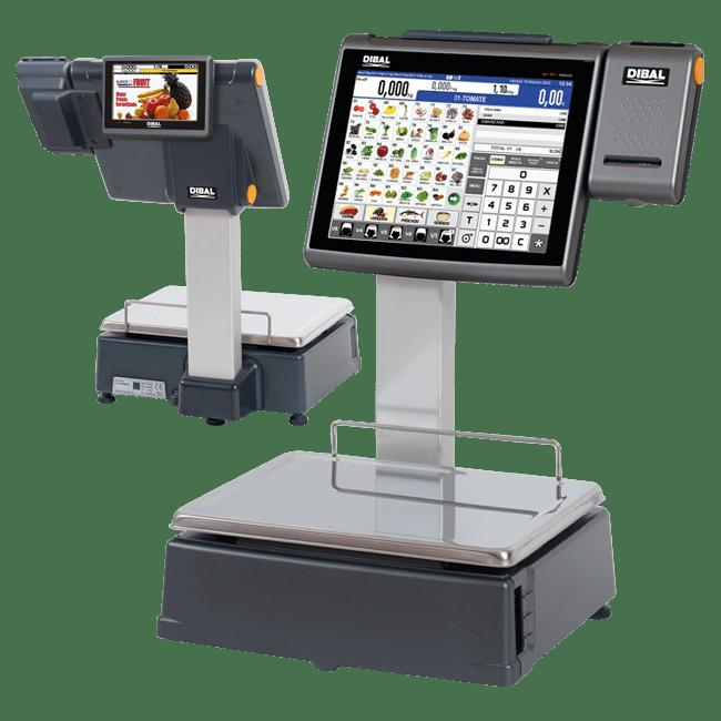 Balanzas con pantalla táctil para mostrador